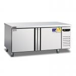 美厨风冷二门平台冷冻柜AWEF18 操作台冰箱 不锈钢平冷工作台