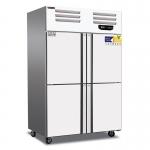 美厨四门冷冻冰箱AEF4 风冷四门高身雪柜 不锈钢四门冰箱 风冷无霜