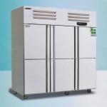 美厨六门冰箱ERF6 不锈钢六门双温冰箱 美厨商用厨房冰箱