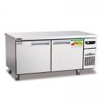 睿弘二门平台冷冻柜WBF18 平冷操作台冰箱 二门不锈钢冷冻柜