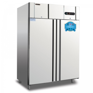 COOLMES冰立方大二门风冷插盘冰箱GN1.2TN2-D 面团冷藏柜  不锈钢二门高身雪柜
