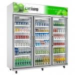 绿零三门冷藏展示冰箱SGZ1580L3F 酒水饮料冷藏展示柜 超市展示冷柜