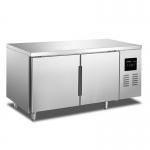 绿零二门冷藏冰箱 操作台冷冻柜 1.8米平台冷藏柜 SBC-0.4L2T