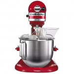 美国KitchenAid/厨宝升降式厨师机5KPM5RED 三功能搅拌机 4.8L打奶油机 台式打蛋器 帝王红搅拌机