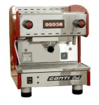 CONTI康帝  Club 1G-R 单头半自动咖啡机 CONTI CLUB (红色)Q 商用咖啡机 咖啡厅设备