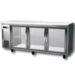 松下三门冷柜BR-1861FC 松下三玻璃门展示柜 松下吧台冰箱 Panasonic操作台冷藏柜