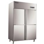 洛德四门冰箱全冷冻QB1.0L4LD 四门单温冰箱 LAUD洛德不锈钢冰箱