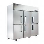 金松六门双温冰箱QB1.6L6HU 冷冻冷藏冰箱 不锈钢六门冷冻冷藏柜