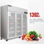 金松大三门冰箱GB1.6L3D 冷藏展示柜 三门保鲜冷藏柜