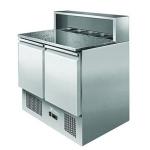 银都二门沙拉台ESL3831 大理石冷藏小料台 披萨工作台