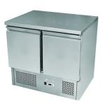 银都二门沙拉台ESL3801 大理石冷藏操作台 不锈钢披萨工作台