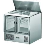 银都冷藏沙拉台ESL3830 二门玻璃门滑盖沙拉台 小料冷藏展示柜
