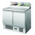 银都二门平面开口沙拉台ESL3832 比萨冷藏工作台 操作台冷柜