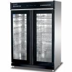 亿盟YTP-1300A低温消毒柜 玻璃双门消毒柜 商用餐具消毒柜 触摸屏消毒柜