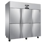 绿零六门风冷冷藏柜SGC-1.6L6F 不锈钢六门冰箱 风冷无霜冷藏保鲜柜