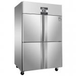绿零四门冷冻柜SGC-1.0L4FD 风冷无霜四门高身低温雪柜 不锈钢四门冷冻柜