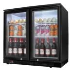 绿零吧台冷藏展示柜SHB-230L2F 大二门冷藏柜 酒水饮料展示柜