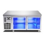 绿零二门蓝光吧台冰箱SBG-0.3L2F 酒吧冷藏展示柜 酒水饮料展示柜