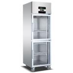 绿零立式冷藏展示柜 二玻璃冷藏冰箱 风冷冷藏展示柜