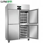 绿零四门插盘冰箱SKC-1.0L4F 风冷四门烤盘冰箱