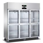 绿零六门冷藏展示冰箱 绿零六玻璃门冷藏柜