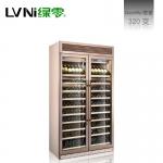 绿零红酒冷藏展示柜LN320S 双门红酒柜 绿零冷藏保鲜酒柜