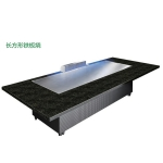 LIZE长方形电磁铁板烧 2.4米铁板烧  10人桌铁板烧