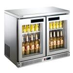 LIZE双门吧台展示柜BF10C2-GL 丽彩酒水饮料展示柜 风冷二玻璃门展示冰箱