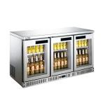 LIZE三门吧台展示柜BF14C3-GL 丽彩酒水饮料展示柜 风冷三玻璃门展示冰箱