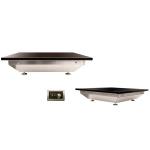 GROWIT嵌入式黑玻璃保温板HBRB-1515 布菲炉保温板 自助餐保温板 可控温电热玻璃保温板