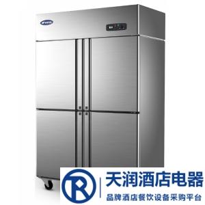 银都标准款四门单温BBL0541冰箱    商用四门铜管冰箱    厨房冷柜