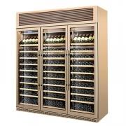 LIZE商用冷柜古铜色红酒柜展示柜定制玫瑰金酒水展示柜
